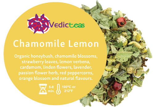 Chamomile Lemon Loose Leaf By Vedic Teas