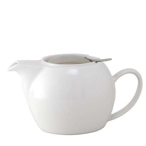 Zero Japan Stackable Teapot With Stainless Steel Handle & Infuser White Colour
