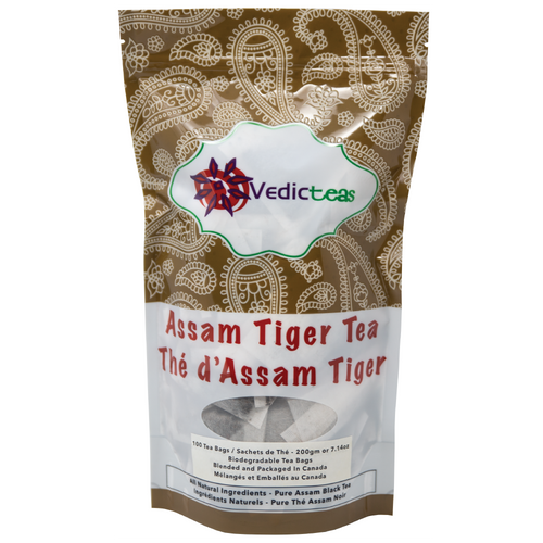 Assam Tiger Tea Tea Bags Front
