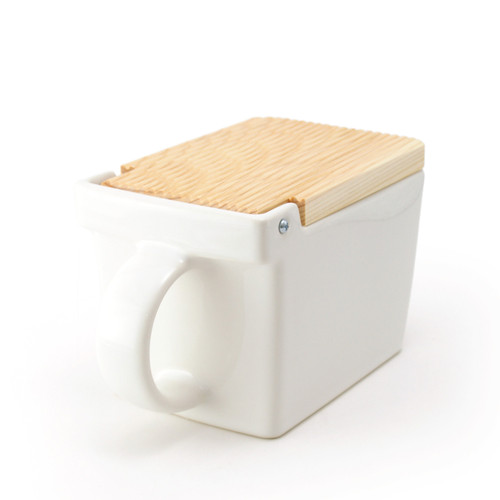 Zero Japan Salt Box White Colour