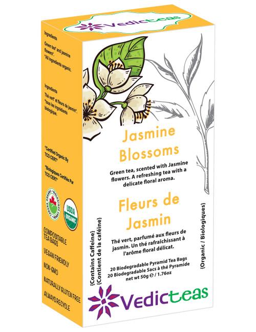 Jasmine Blossoms Green Tea - Box Front