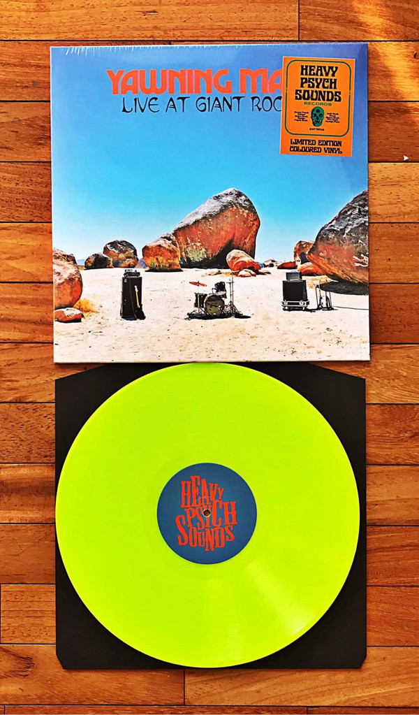 "YAWNING MAN ""LIVE AT GIANT ROCK"" LIMITED GREEN VINYL 12"""