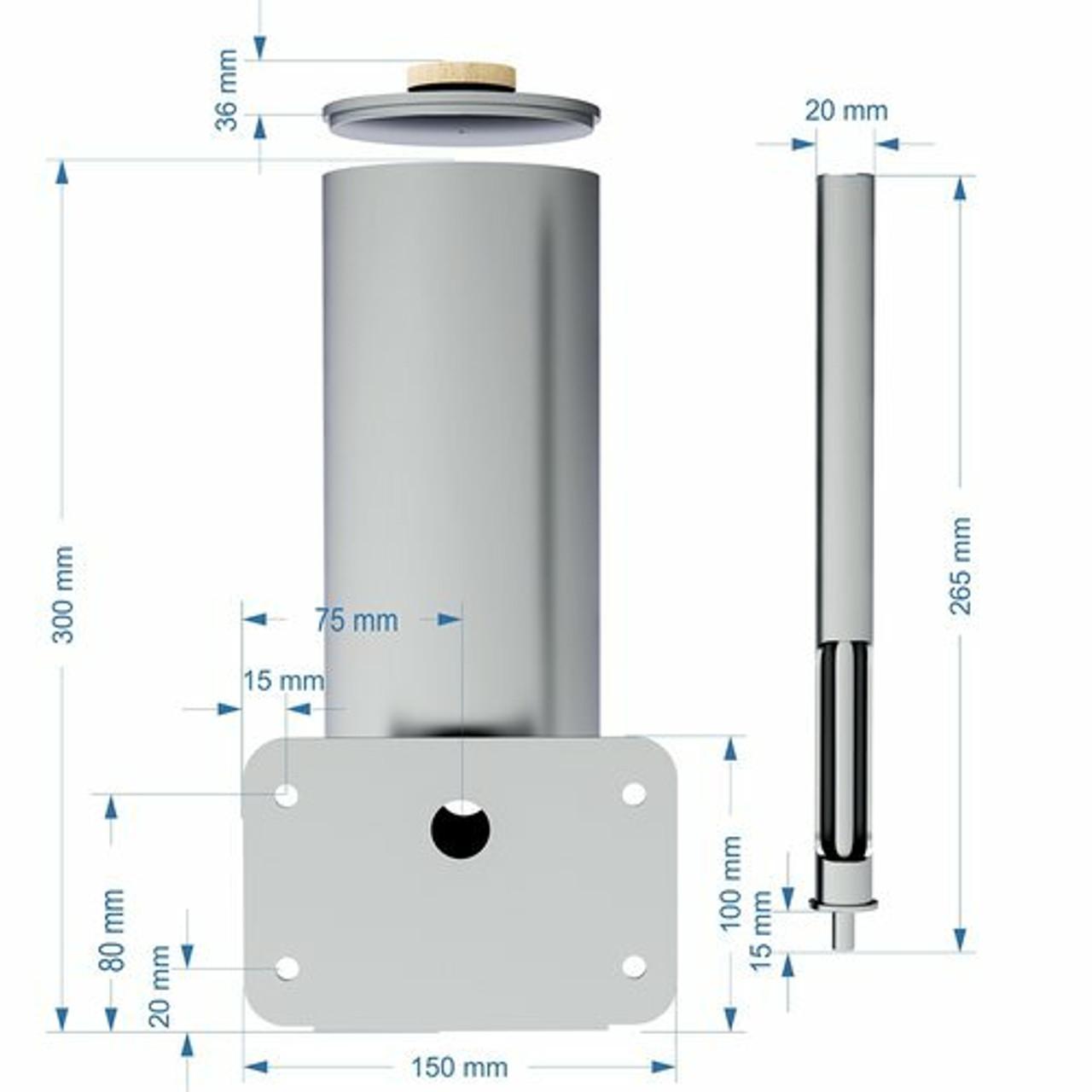 smoke generator dimensions