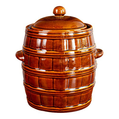12l clay pot with lid