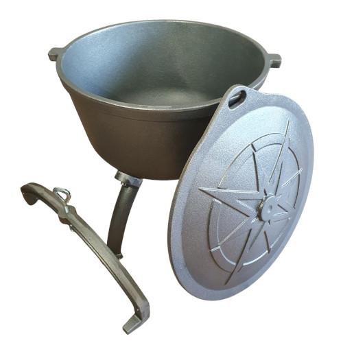 grey cast Iron hunting pot 10L