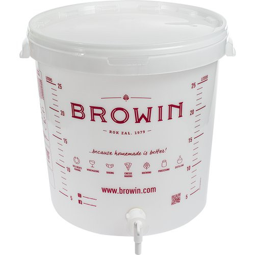 Fermentation bucket 30l with scale, lid and tap