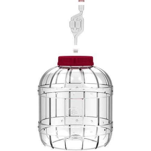 Multifunctional plastic jar for fermenting 5 litres