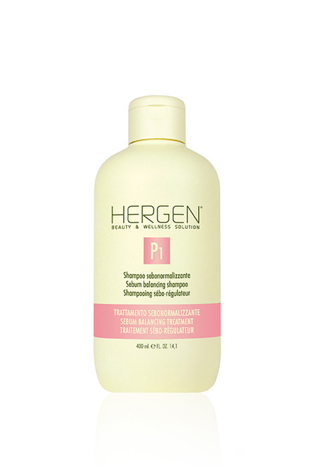 HERGEN P1 OILY HAIR AND SCALP (SEBUM) BALANCING SHAMPOO 400ML