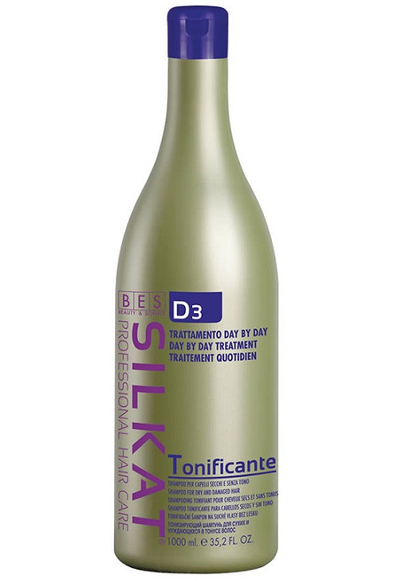 BES Silkat Day by Day D3 Tonificante is designed to bring serious nourishment to the scalp and the hair shaft thank to a vegetable protein complex