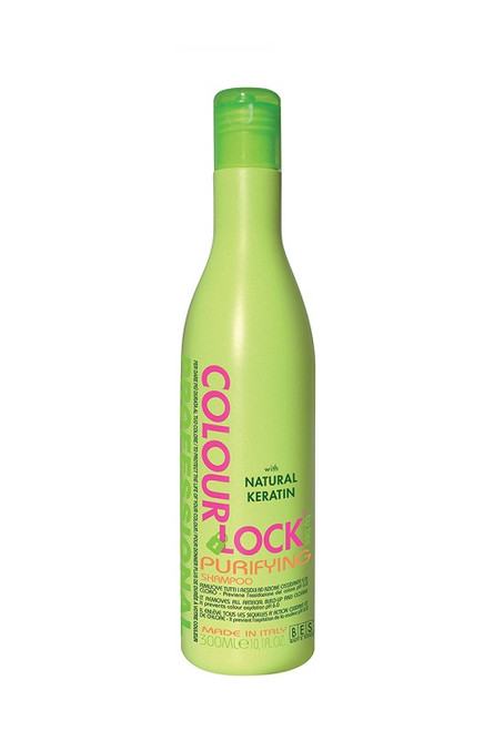 BES Colour Lock Purifying Shampoo removes all chlorine and heavy mineral residues from your hair. The heavy minerals are responsible for hair colour fading.