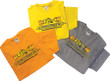 B-Fish-N Tackle Cotton Tee Shirt shown in 3 colors, yellow, orange and gray