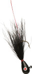Black Head/Black Body bucktail jig