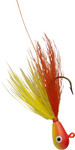 Orange Chartreuse Head/Orange Chartreuse Body bucktail jig