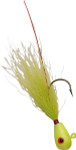 Chartreuse Head/Fl Chartreuse Body bucktail jig