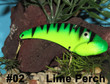 Wolf's Big Dude Blade Baits in Lime Perch - #02