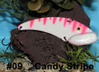 Wolf's Big Dude Blade Baits color Candy Stripe - #09