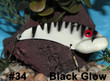 Wolf's Big Dude Blade Baits in Black Glow - #34