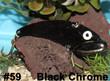 Wolf's Big Dude Blade Baits in Black Chrome - #59
