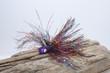 B-Fish-N Tackle MasterFlash Jig Purple Glitter Jig Head with a Rainbow Tinsel Mix
