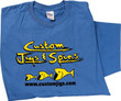 Custom Jigs & Spins®  Tee Shirt in blue