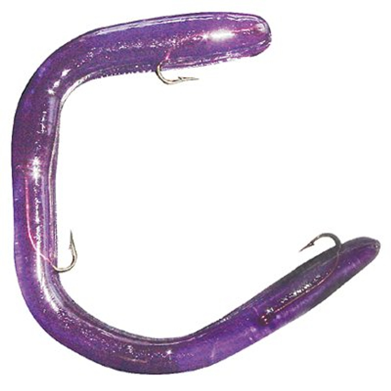 "Purple Grape 20 Count New Other Bulk 8/"" Paddle Tail Worms"