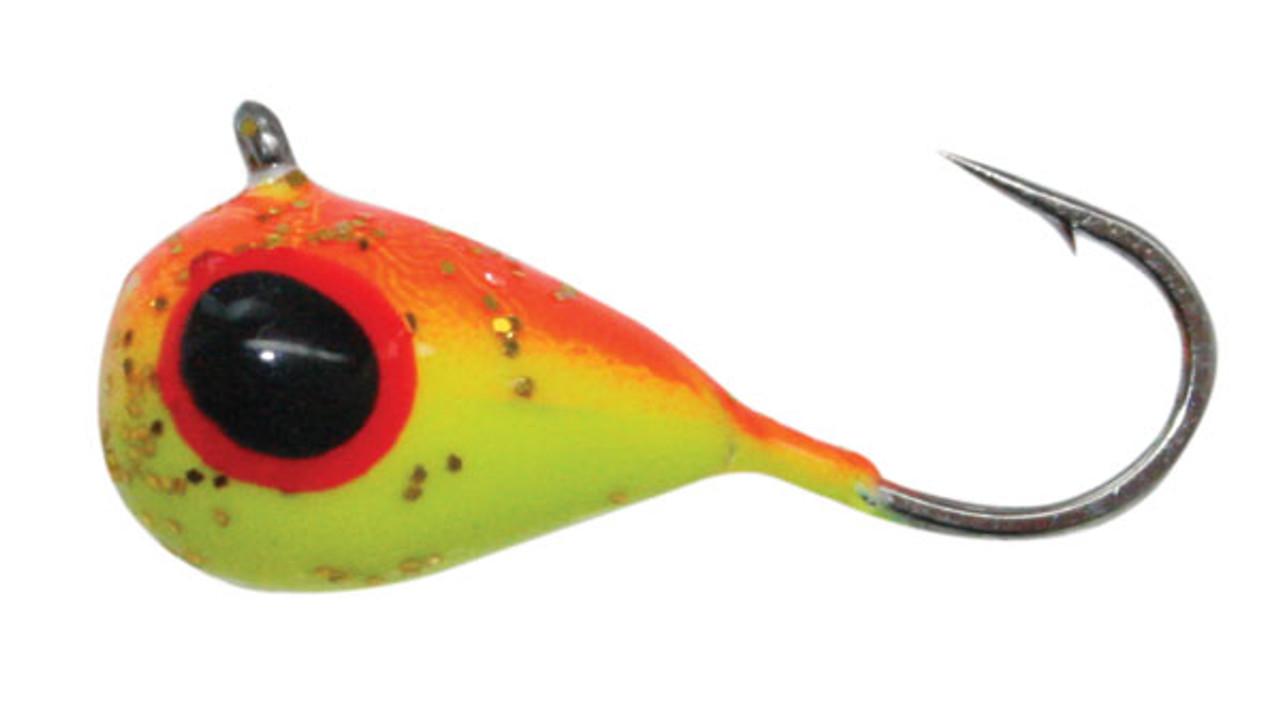 Tungsten Jigs BRIGHT ORANGE GLOW TUNGSTEN JIG SIZE 5mm #12 Hook 5 pack