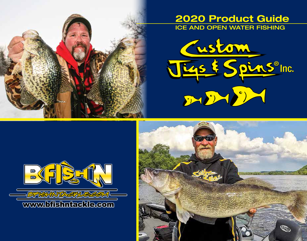 Download your free copy of the Custom Jigs and Spins 2020 catalog