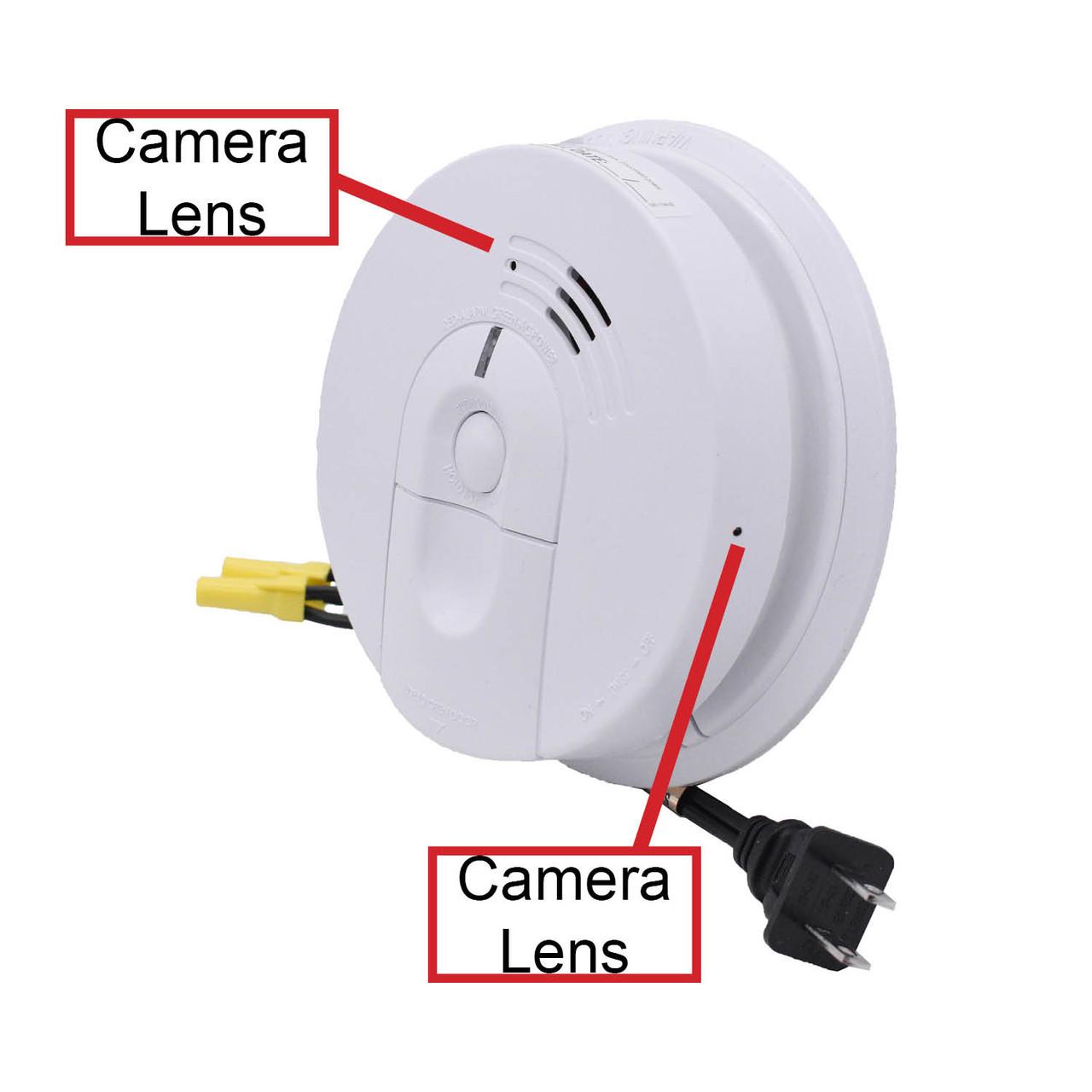 Smoke Detector Camera with Dual Cameras