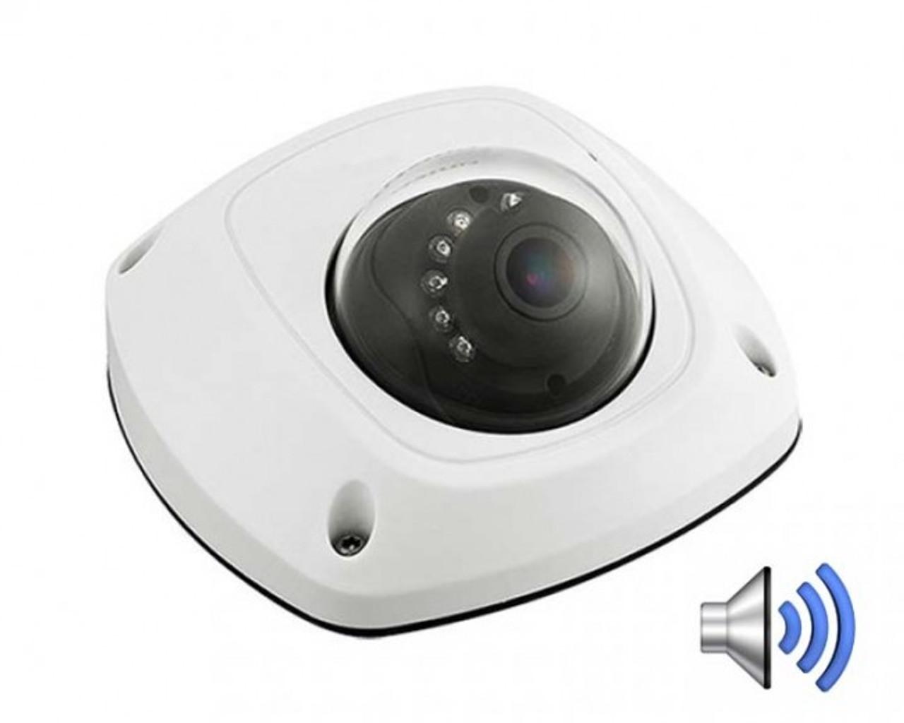 4MP IP 2.8MM Mini Dome Camera w/ Audio