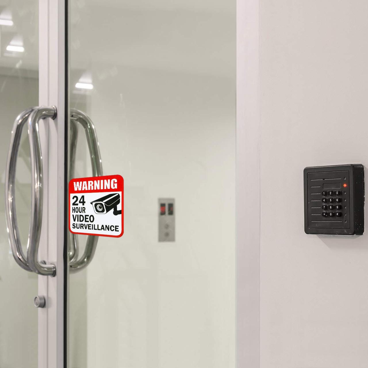 Small CCTV Warning Sticker