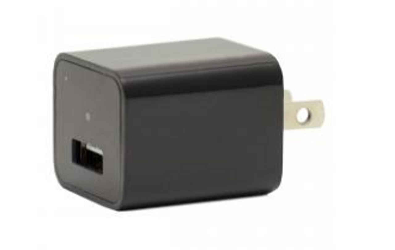 Hidden Charger Spy Camera (Black)