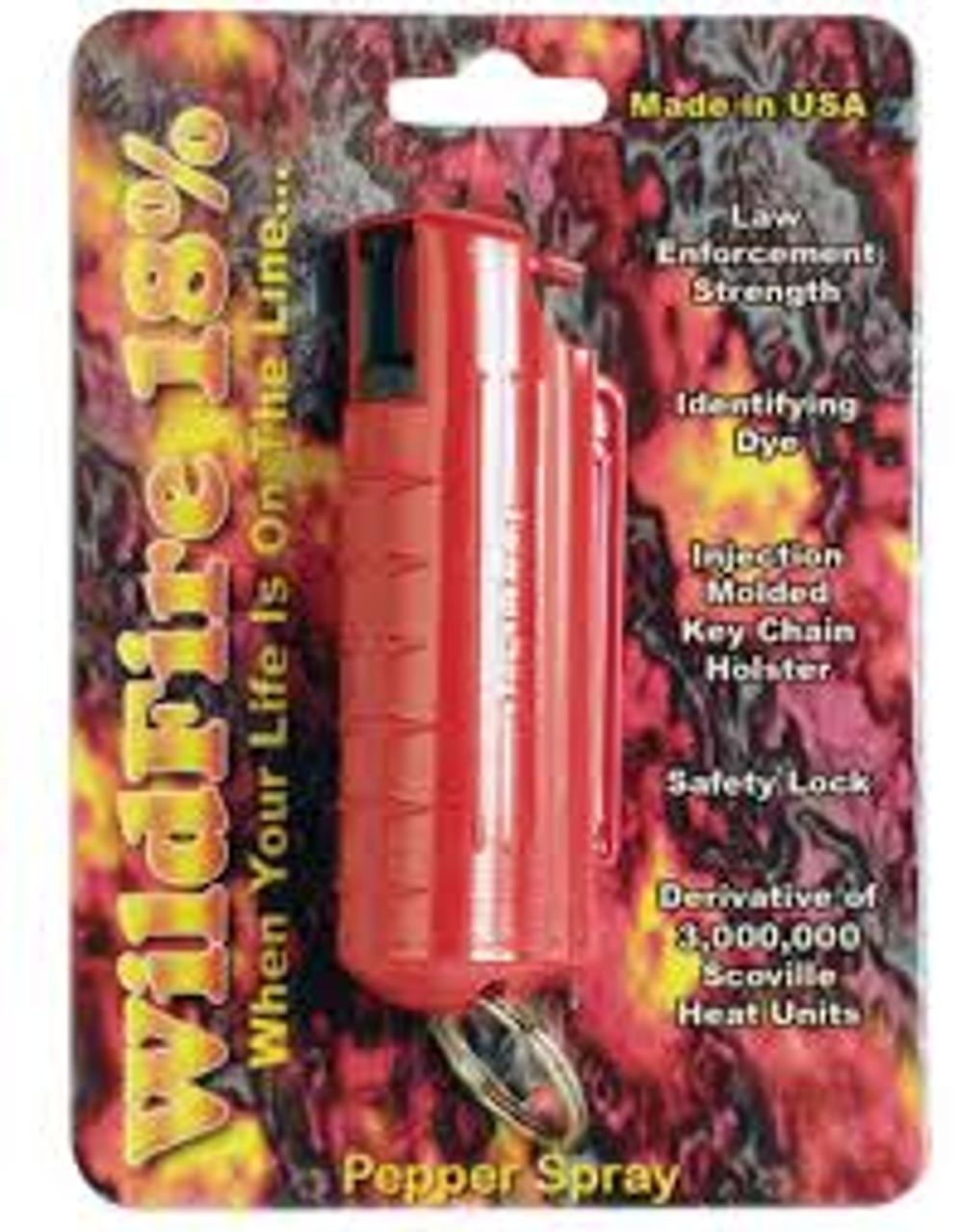 Wild Fire Pepper Spray 0.5 oz UV Red