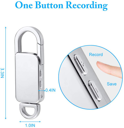 Clip Voice Recorder w/ Metal Housing