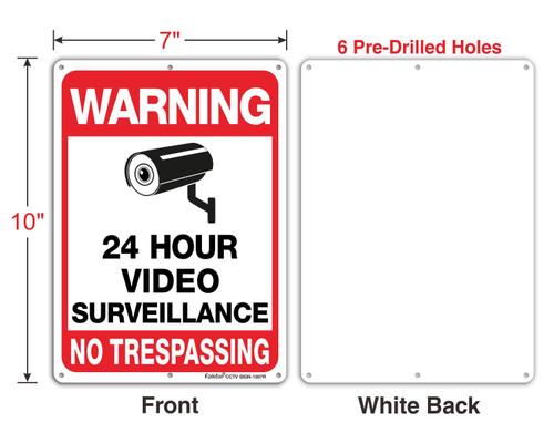 Metal CCTV Warning Sign