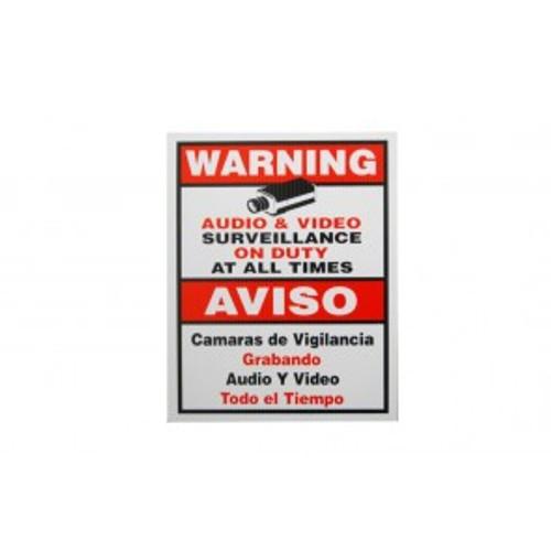 Aluminum Video Warning Sign