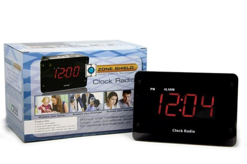 Zone Shield 4K Night Vision Clock Radio Hidden Camera