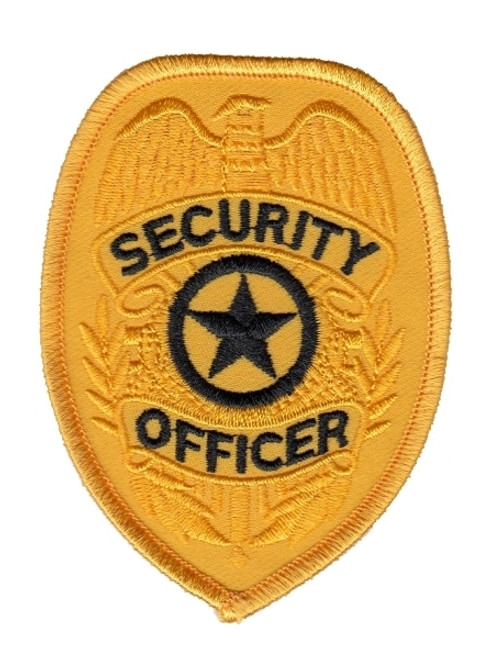 """SECURITY OFFICER Badge Patch, 2-3/8x3-1/4"""""""