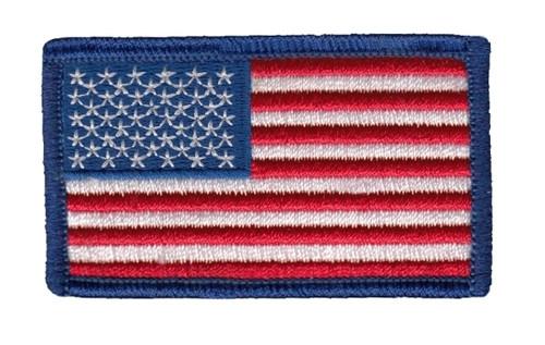 """U.S. Flag Patch, Royal, 2-1/2x1-1/2"""""""