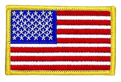 "U.S. Flag Patch, Medium Gold, 3-1/2x2-1/4"""
