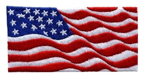 "U.S. Flag Patch, Wavy-911, Hot-knifed Edge, 4x2"""