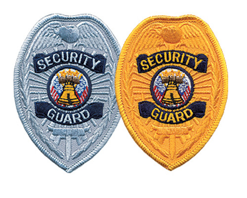 """SECURITY GUARD Badge Patch, 2-1/2x3-3/8"""""""