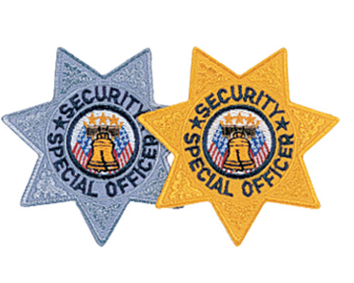 """SECURITY SPECIAL OFFICER, 7-Pt Star Badge Patch, 3x3"""""""