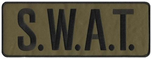 """S.W.A.T. Back Patch, Black/O.D., 11x4"""""""
