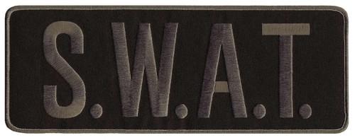 "S.W.A.T. Back Patch, Grey/Black, 11x4"""