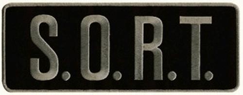 "S.O.R.T. Back Patch, Grey/Black, 11x4"""