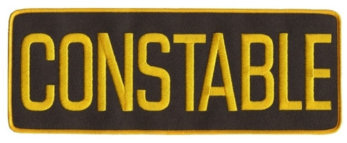 """CONSTABLE Back Patch, Medium Gold/Brown, 11x4"""""""