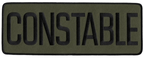 """CONSTABLE Back Patch, Black/O.D., 11x4"""""""