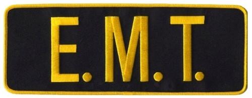 "E.M.T. Back Patch, Medium Gold/Midnight, 11x4"""