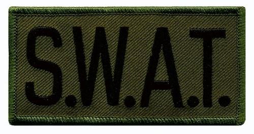 "S.W.A.T. Chest Patch, Black/O.D., 4x2"""