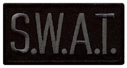 "S.W.A.T. Chest Patch, Grey/Black, 4x2"""